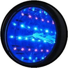 Licht decoratie - oneindige diepte spiegel met klok