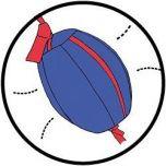 Boksbal met ballon