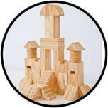 Soft-houten bouwstenen 34 delig