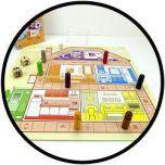 Huis Tuin en Keukenspel - Speelbord