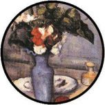 Cezanne Flowers in Blue Vase puzzel