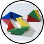 Triamant gekleurd 2 helften